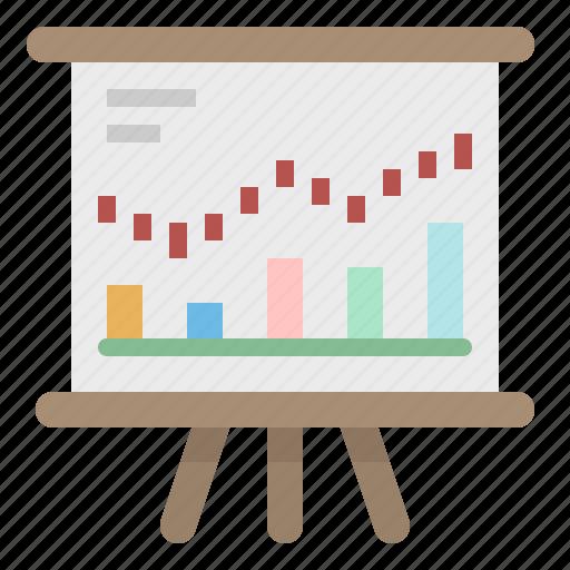 analysis, chart, graph, growth, stocks icon