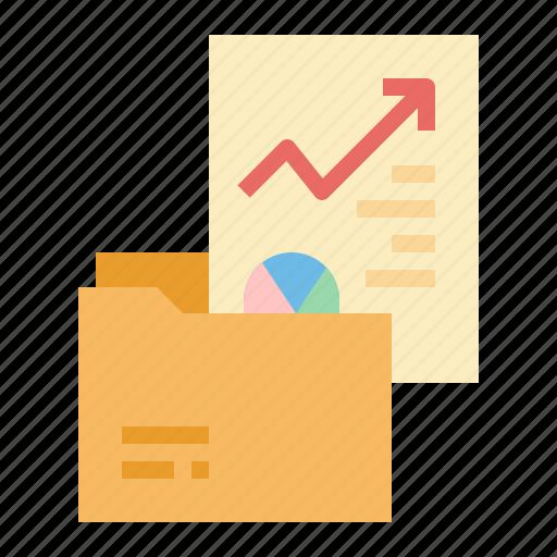 analysis, data, folder, growth, pie icon