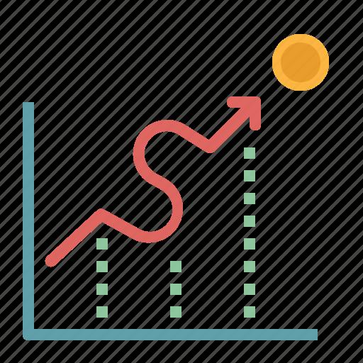 business, finance, graph, graphic, profits icon