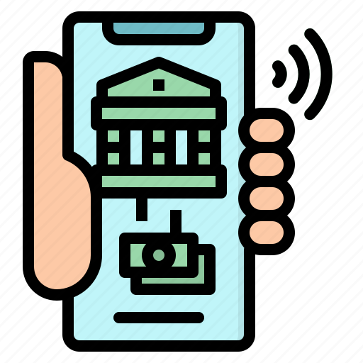 bank, banking, business, mobile, online icon