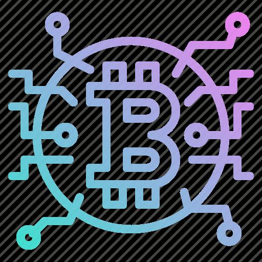 bitcoin, blockchain, coin, cryptocurrency, money icon