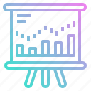 analysis, chart, graph, growth, stocks icon