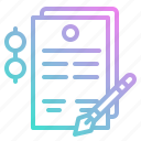 business, contract, document, paper, writing icon