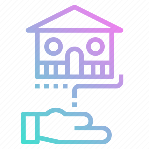 bank, borrow, house, investment, loan icon