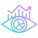 business, chart, eye, focus, vision icon