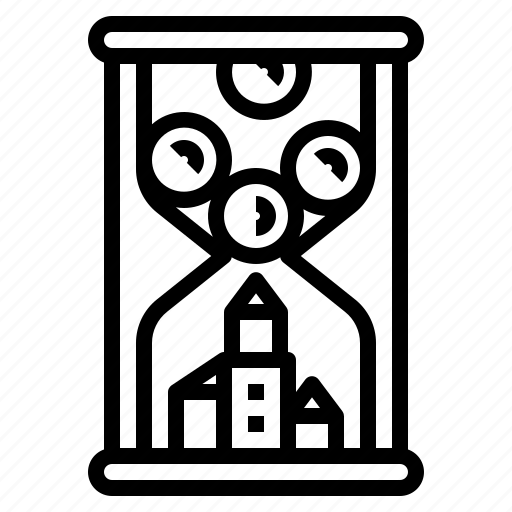 hourglass, investment, money, time, timer icon