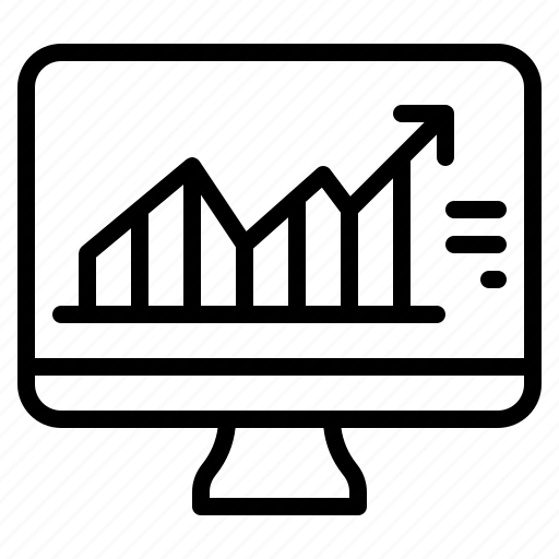 business, growth, market, monitor, stock icon