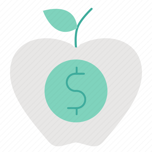 apple, fruit, healthy, investment, organic icon