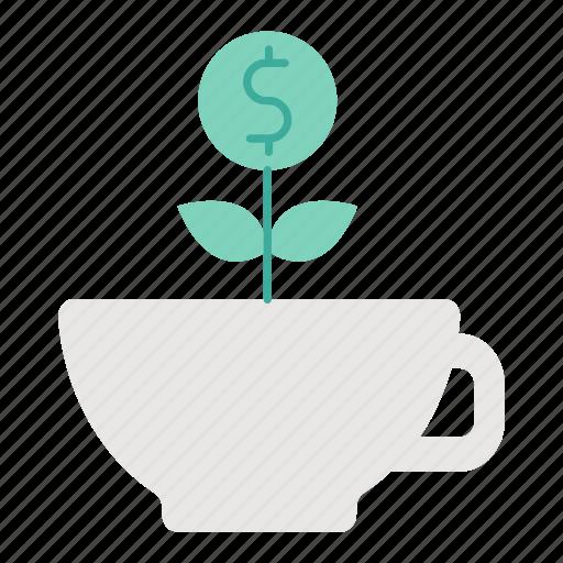 coffee, espresso, food, healthy, investment icon