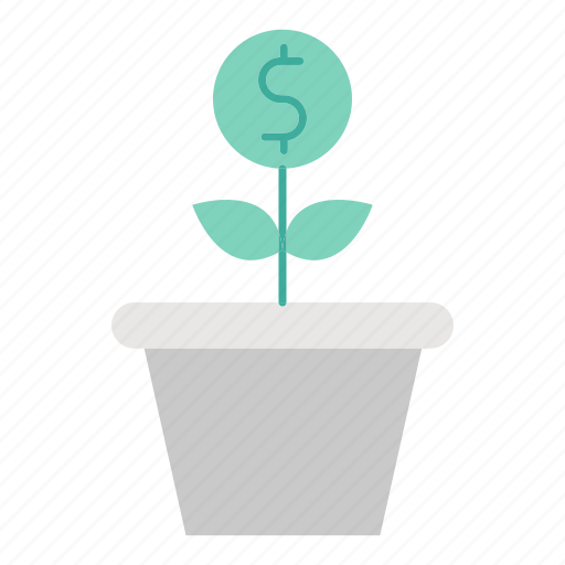 business, financing, growth, investment, plant icon