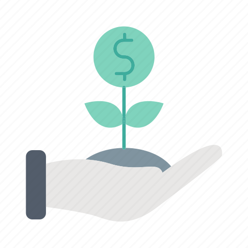 finance, growth, investment, investments, plant icon