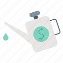 engine, investment, lubrication, money, optimization icon