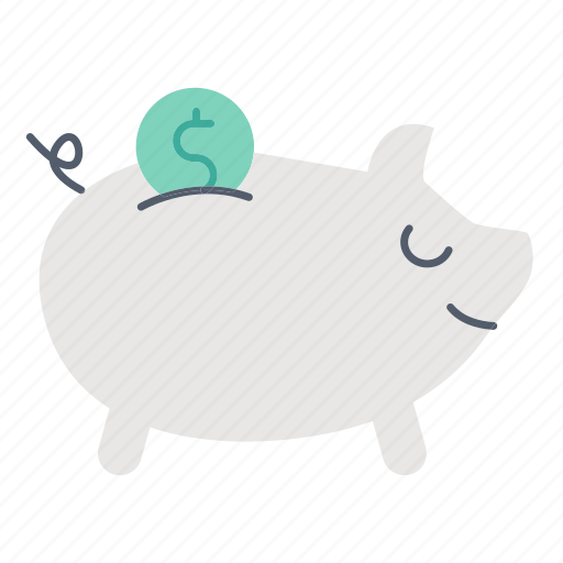 Savings, financial, investment, bank, piggy icon