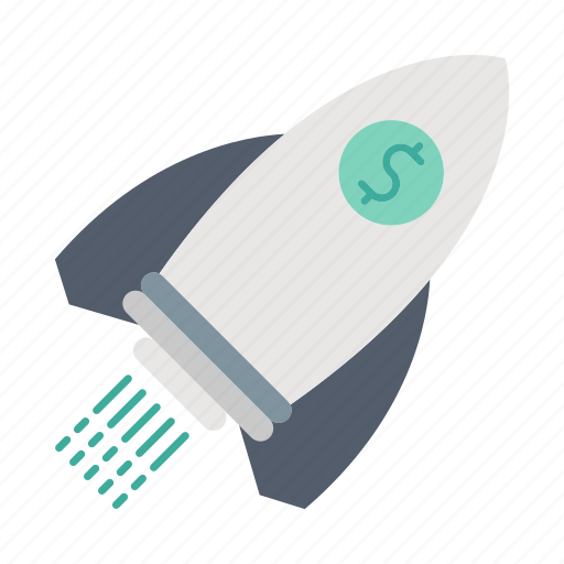 investment, launch, marketing, rocket, startup icon