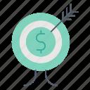 bullseye, focus, goal, investment, target icon