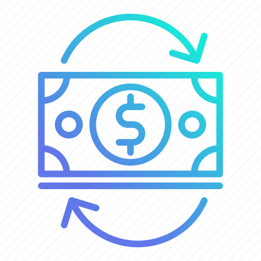 cash, currency, financial, flow, investment icon
