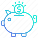 bank, banking, business, investment, piggy, savings icon