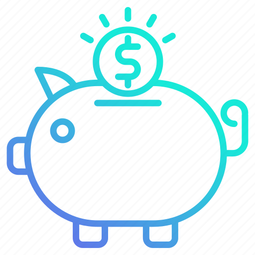 Business, banking, savings, piggy, investment, bank icon - Download