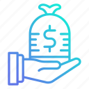 financial, income, investment, money, profit icon