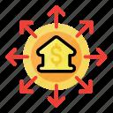 bank, business, finance, fund, investment, marketing, money icon