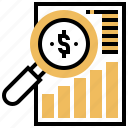 analysis, currency, exchange, market, stock icon