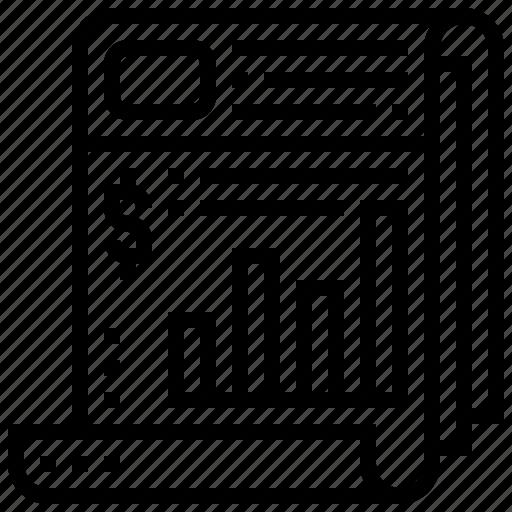 information, journal, magazine, news, newspaper icon