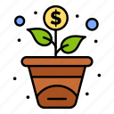 financing, growth, investment icon