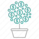 business, finance, growth, investment, tree icon