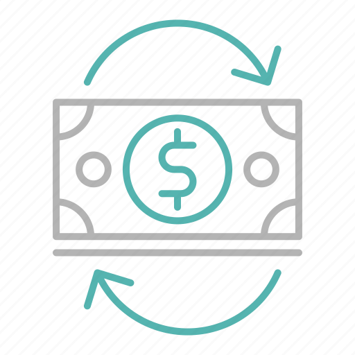 business, cash, dollar, finance, flow, investment icon