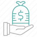 business, finance, investment, payment, profit icon