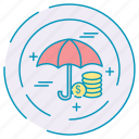 business, finance, investment, umbrella icon