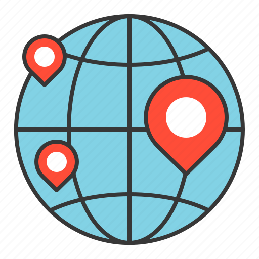 business, finance, fund, investment, location icon