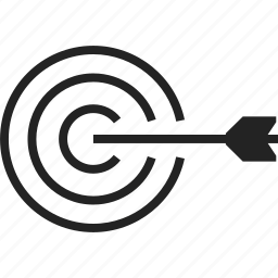 archery, arrow, bullseye, target icon