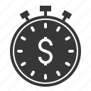 clock, stop watch, investment, finance, time icon