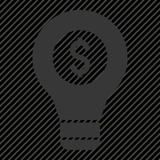 bulb, finance, idea, investment, light bulb icon