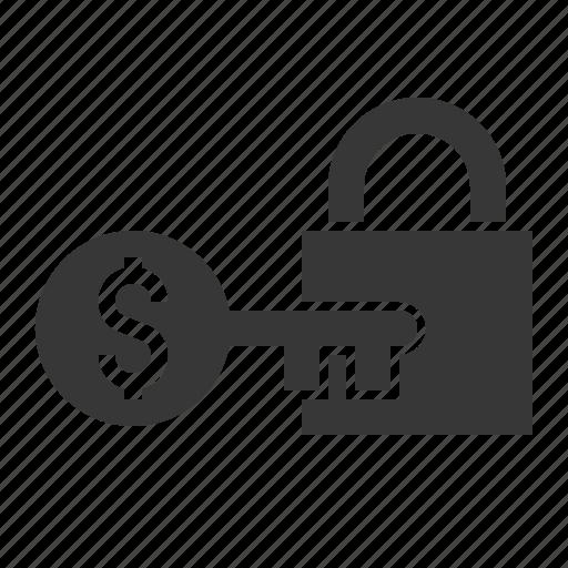 finance, investment, key, lock, safe icon