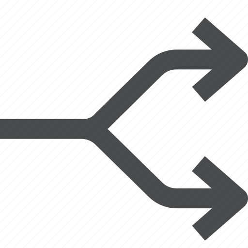 divide, navigation, seperate, split icon