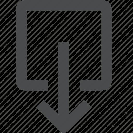 down, shift icon
