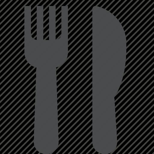 eat, flatware, fork, knife, silverware, tableware, utensil icon
