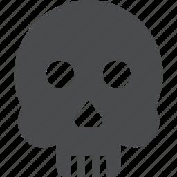 dead, death, face, sacry, skeleton, skull icon