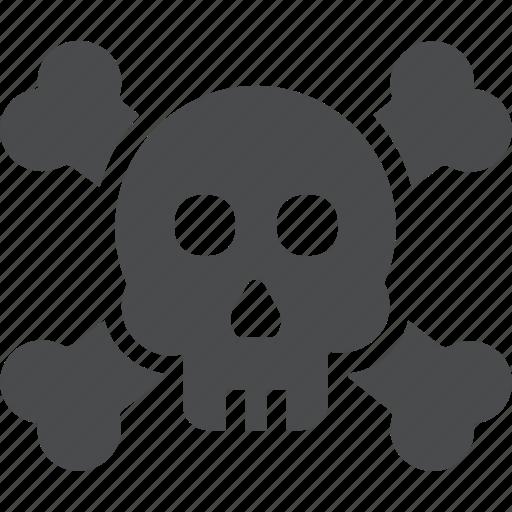 bones, crossbones, death, pirate, skeleton, skull, spooky icon