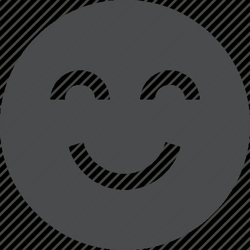 cheerful, content, emoji, face, happy, satisfied, smiley icon