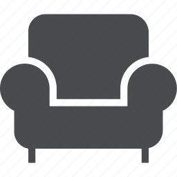 armchair, chair, couch, furniture, lounge, seat, sofa icon