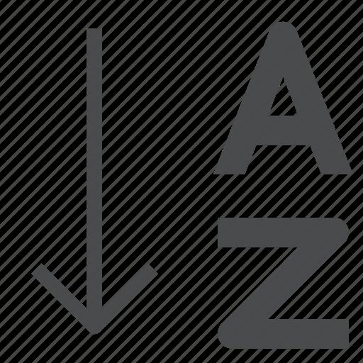 a, sort, z icon