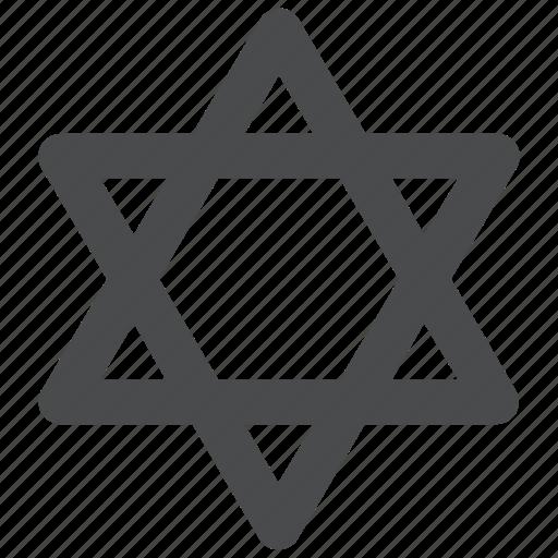 christian, christianity, christmas, david, of, religion, star icon