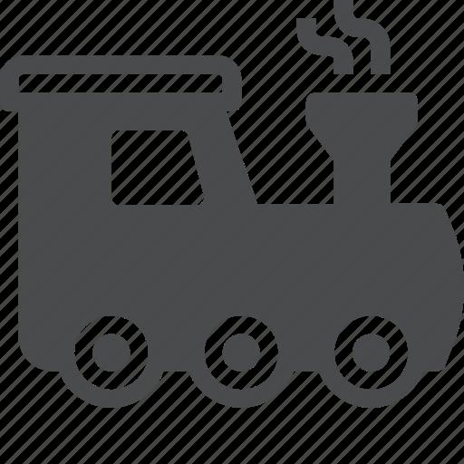 engine, locomotive, railway, steam, train, tram icon