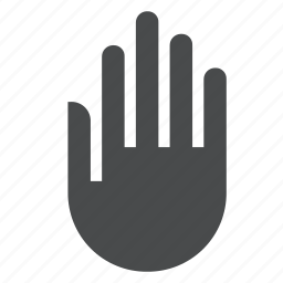 body, hand, human, stop, touch icon