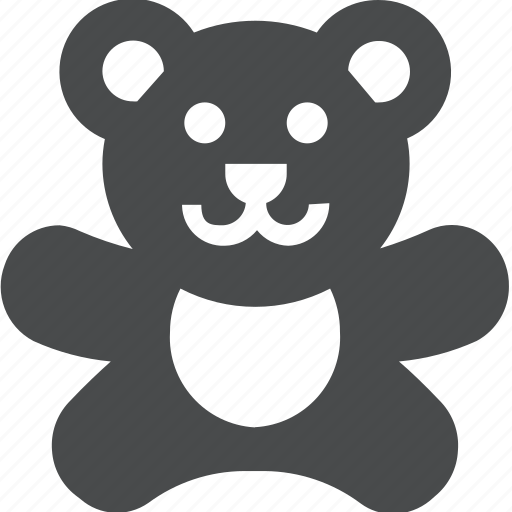 Bear, teddy, animal, baby, cute, stuffed, toy icon - Download on Iconfinder