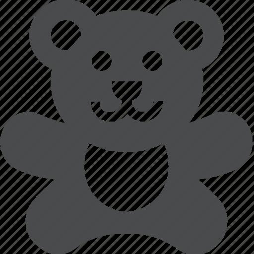 animal, baby, bear, cute, stuffed, teddy, toy icon