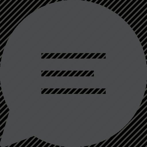bubble, chat, comment, message, speech, text icon
